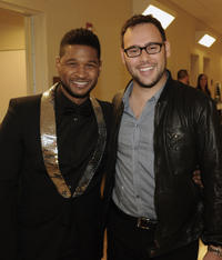 Usher Raymond and Scooter Braun at the 33rd Annual Georgia Music Hall Of Fame Awards in Georgia.