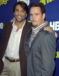 Vincent Spano and Kevin Dillon at the premiere of
