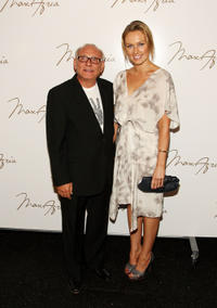 Max Azria and Michaela McManus at the Spring 2009 Fashion Show during the Mercedes-Benz Fashion Week.