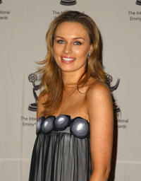 Michaela McManus at the press room of 36th Annual International Emmy Awards.