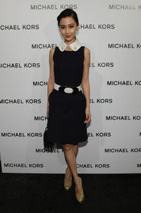 Angelababy at the Michael Kors Fall 2013 Fashion Show during the Mercedes-Benz Fashion Week.