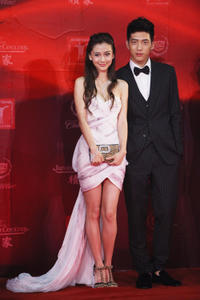 Angelababy and Jing Boran at the opening ceremony of 14th Shanghai International Film Festival.