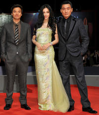 Director Stephen Fung, Angelababy and Tony Leung Ka Fai at the premiere of