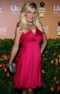 Tori Spelling at the US Weekly Hot Hollywood Awards party.