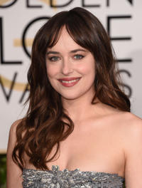 Dakota Johnson at the 72nd Annual Golden Globe Awards in California.