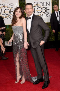 Dakota Johnson and Ethan Hawke at the 72nd Annual Golden Globe Awards in California.