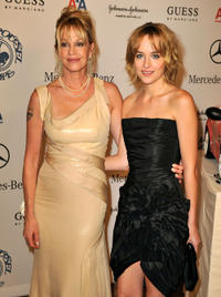 Melanie Griffith and Dakota Johnson at the 30th anniversary Carousel of Hope Ball to benefit the Barbara Davis center for childhood diabetes in California.
