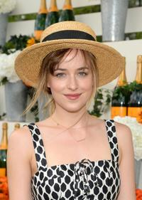 Dakota Johnson at the seventh annual Veuve Clicquot Polo Classic in Jersey City.