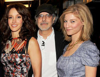 Jennifer Beals, Jon Avnet and Caitlin Gerard at the YouTube 2012 Upfronts Presentation in New York.