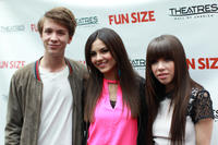 Thomas Mann, Victoria Justice and Carly Rae Jepsen at the screening of