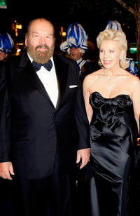 Bud Spencer and Ute Ohoven at the Unesco Charity Gala 2009 in Germany.
