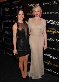 Elizabeth Reaser and Casey LaBow at the New York premiere of
