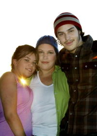 Wendie Jo Sperber and her children Daphne and Spencer at the