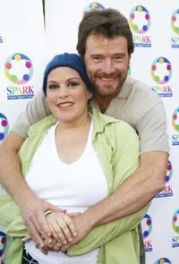 Wendie Jo Sperber and Bryan Cranston at the weSPARKLE NIGHT - TAKE III Benefit.