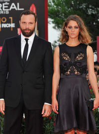 Filmmaker Yorgos Lanthimos and Ariane Labed at the premiere of