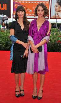 Evangelia Randou and Ariane Labed at the Italy premiere of