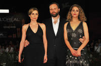 Aggeliki Papoulia, director Yorgos Lanthimos and Ariane Labed at the premiere of