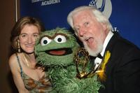 Cheryl Henson and Carroll Spinney at the Creative Arts Daytime Emmy Awards.