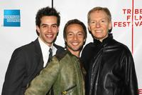 Michael Carbonaro, Jonah Blechman and John Epperson at the premiere of