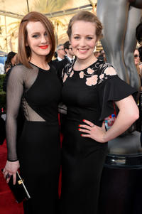 Sophie McShera and Cara Theobold at the 20th Annual Screen Actors Guild Awards in California.