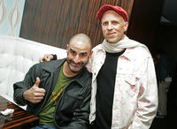 Brody Stevens and Bob Goldthwait at the after party of the California premiere of