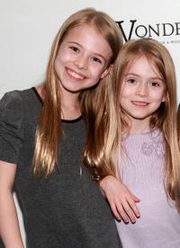 Alexa Gerasimovich and Ashley Gerasimovich at the Broadway Opening Night of