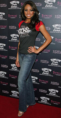 Meagan Tandy at the Fashion Rocks the Universe! fashion show in Nevada.