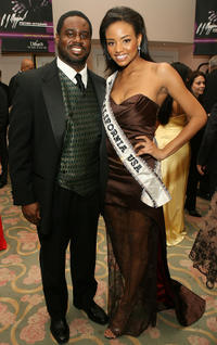 Tenor Rodrick Dickson and Meagan Tandy at the 17th Annual Night Of 100 Stars Oscar Gala in California.