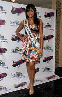 Meagan Tandy at the GEM luxury gift lounge in celebration of the BET Awards in California.