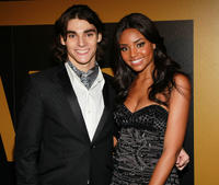 RJ Mitte and Meagan Tandy at the AMC after party of the 62nd Annual EMMY Awards in California.