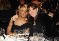 Mary J. Blige and Lorraine Schwartz at the amfAR New York gala.