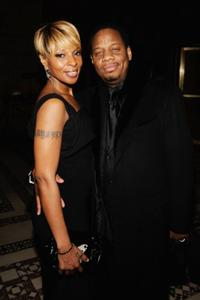 Mary J. Blige and Kendu Isaacs at the amfAR New York gala.
