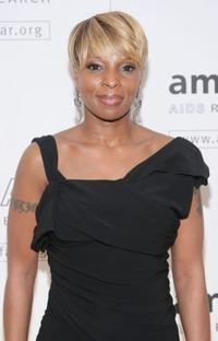 Mary J. Blige at the amfAR New York gala.