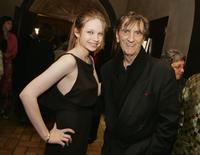 Daveigh Chase and Harry Dean Stanton at the premiere of