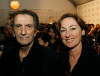 Harry Dean Stanton and Producer Mary Sweeney at the after party of the Centerpiece Gala screening of