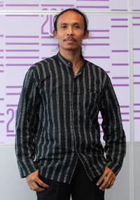 Yayan Ruhian at the photocall of 2011 Doha Tribeca Film Festival in Qatar.