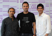 Yayan Ruhian, Ray Sahetapy and Iko Uwais at the photocall of 2011 Doha Tribeca Film Festival in Qatar.