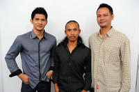 Iko Uwais, Yayan Ruhian and Ray Sahetapy at the photocall of