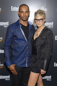Damon Wayans Jr. and Eliza Coupe at the Entertainment Weekly & ABC-TV Up Front VIP party in New York.