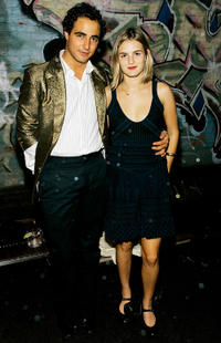 Designer Zac Posen and Nathalie Love at the after party of the Zac Posen Spring 2007 in New York.