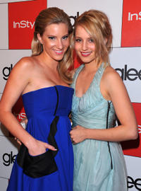 Heather Morris and Dianna Agron at the 20th Century Fox's Golden Globe party in California.