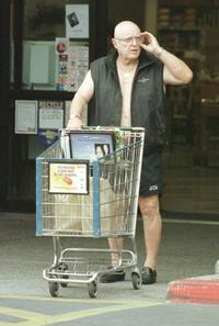 Rod Steiger at the Los Angeles after buying supplies for the Memorial Day weekend.