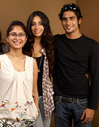 Director Kiran Rao, Monica Dogra and Prateik Babbar at the portrait session of