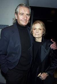 David Bale and Gloria Steinem at the premiere of