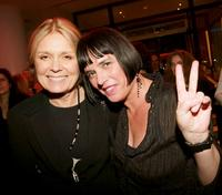 Gloria Steinem and Eve Ensler at the closing night party for The Vagina Monologues.
