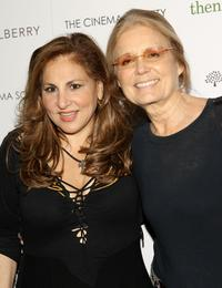 Kathy Najimy and Gloria Steinem at the screening of