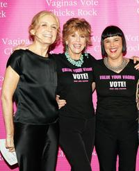 Gloria Steinem, Jane Fonda and Eve Ensler at the