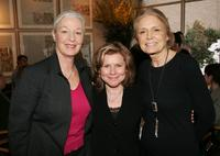 Jane Alexander, Imelda Staunton and Gloria Steinem at the lunch for Imelda Stauton hosted by Fine Line Features.