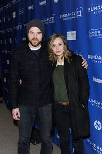 Director/screenwriter Sean Durkin and Elizabeth Olsen at the premiere of