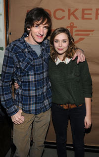 John Hawkes and Elizabeth Olsen at the cocktails of